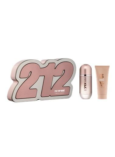 Carolina Herrera 212 VIP Rose EDP 80 ml + Vücut Losyonu 100 ml Kadın Parfüm Set Renksiz